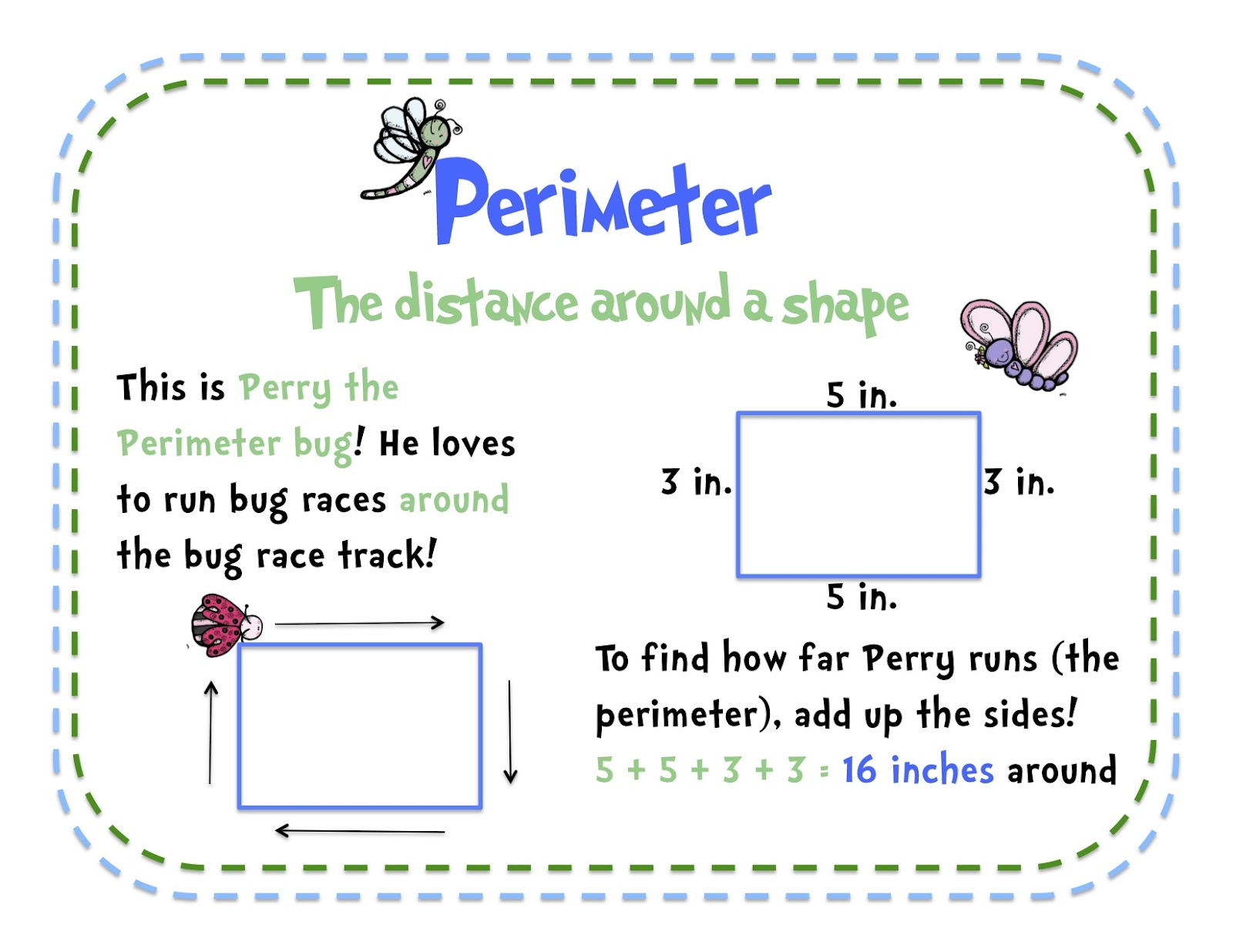 area and perimeter area en length math measurement perimeter