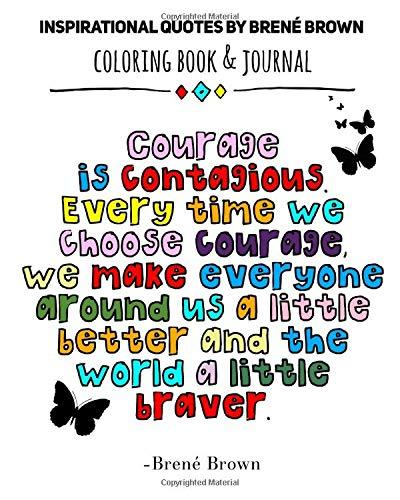 pdf insprational quotes by brene brown coloring book journal x